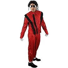 ILOVEFANCYDRESS - Disfraz de Michael Jackson en Thriller para Adulto (pantalón y Chaqueta, Tallas