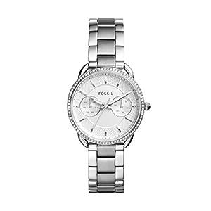 Fossil Damen Analog Quarz Uhr mit Edelstahl Armband ES4262