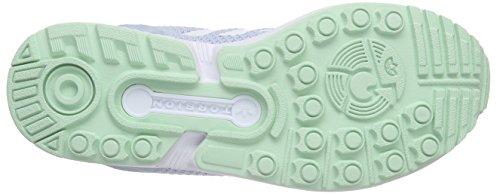 Adidas Zx Flux W, Scarpe da Corsa Donna Blau (Clear Sky/Ftwr White/Frozen Green F15)