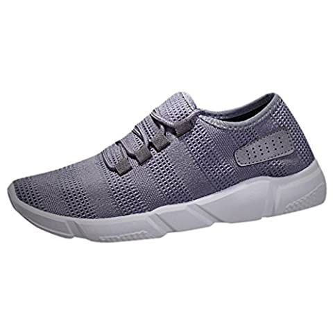 Men's Sneakers, OverDose Comfortable Sports Walking Shoes (UK 5.5 = EU 39 = 25 cm, Gray)