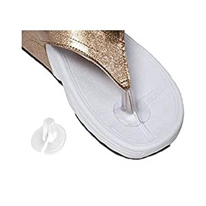 Confezione da 10da uomo e da donna in gel di silicone trasparente sandalo infradito per dita dei piedi Pad Sandal flip-flop toe Guards Cushions
