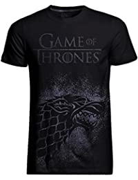 Game of Thrones Official T Shirt Distressed Direwolf Jumbo House Stark All Sizes