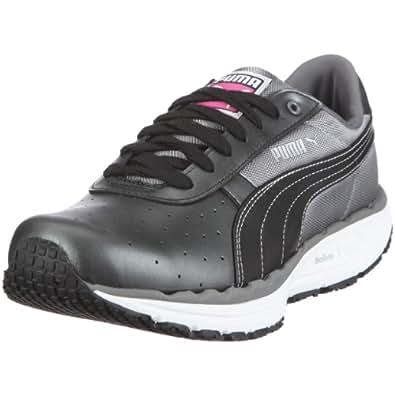 Puma BodyTrain LS Sheen Wn's 185558, Damen, Sportschuhe - Fitness, Schwarz (black-white-steel grey 04), EU 36 (UK 3.5) (US 6)