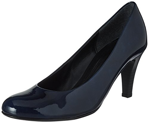 Marine-blau-leder-heels (Gabor Shoes Damen Basic Pumps, Blau (78 Marine), 41 EU)