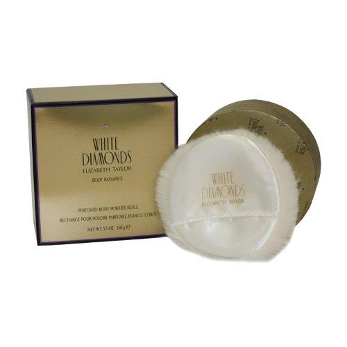 WHITE DIAMONDS von Elizabeth Taylor für Damen. PERFUMED BODY POWDER NACHFÜLLUNGSPATRONE 5.3 oz / 150g - Damen Body Powder