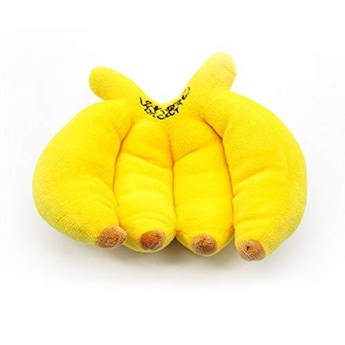 RoadRoma Fruta Linda Forma de plátano Juguetes para Mascotas Cachorro Perro Juguete...