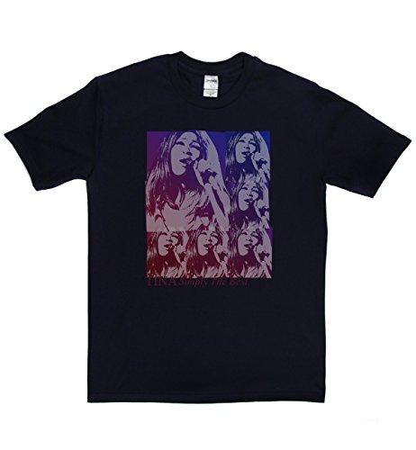 Tina Turner Classic Rock Musik Legends Retro-T-Shirt Marineblau