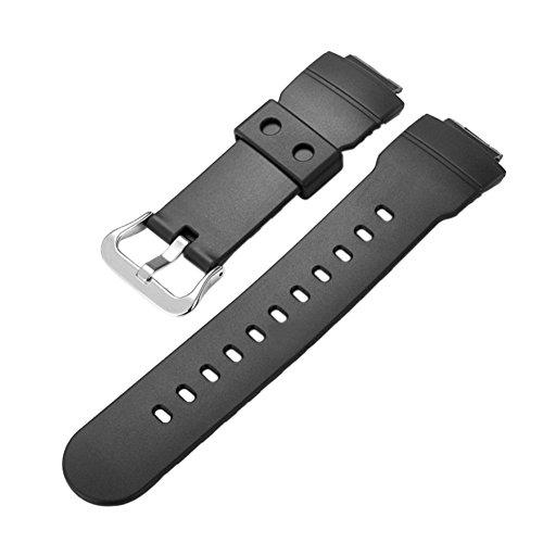 Ersatz G-shock-uhr Band (Haodasi Ersatz Resin Uhrenarmband Uhrarmband Gurt Armband Band Watchband für Casio G-Shock AW-582-1A AW-582C AW-582C-4A)