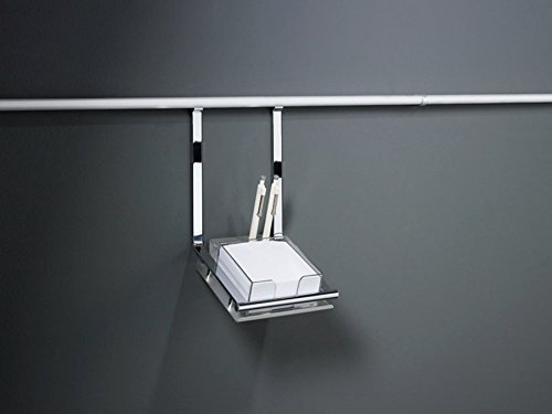 SO-TECH® Linero 2000 Schreibsethalter mit Zettelblock u. 2 Kugelschreiber für Küchenreling
