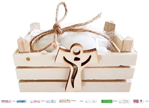 Chance sas irpot - kit bomboniere 12 mini cassettine della frutta 23061 + decorazioni legno + bigliettini + juta (croce tao 1130018)