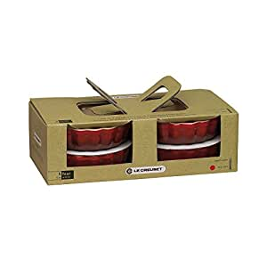 Le Creuset 91017411060000 4er Set Tarte-Form 11 cm kirschrot