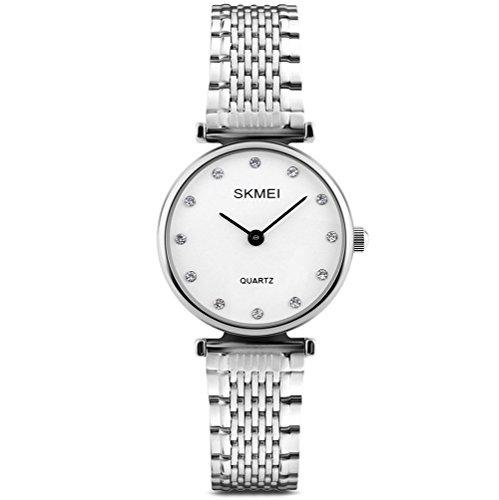 Neue Damen Uhren Mode Klassische Silber Wasserdicht Armbanduhr für Frauen Mädchen Damen