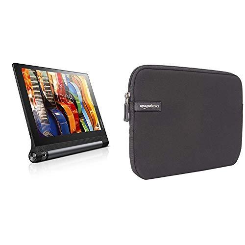 Lenovo Yoga Tab 3 25,5 cm (10,1 Zoll HD IPS Touch) Convertible Tablet-PC (Qualcomm Snapdragon APQ8009, 2 GB RAM, 32 GB eMMC) schwarz und AmazonBasics Schutzhülle für Tablets (25,4cm / 10Zoll)