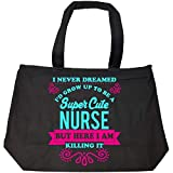 Katnovations Super Cute Nurse Killing It (2) - Tote Bag With Zip