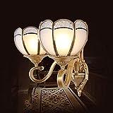 OUNA Neue Art angewendet in Kupfer der europäischen Art-Wandlampe-Lampe Gangbeleuchtung Schalten Sie Lichter ab Lichter-Korridor-Gaststätte-Lounge-Nachttischleuchten beleuchten mit Heimgebrauch,Doppe