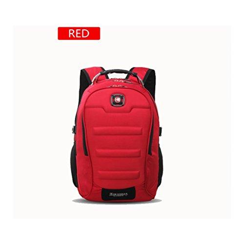 Rucksack Wasserdichte Oxford Tuch Laptop Rucksäcke Multifunktionale Business / Reisen / Schule Neutral styles one / red