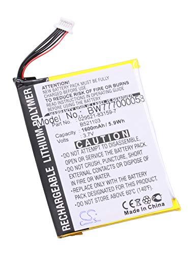 vhbw Batterie Li-POLYMER pour ASUS MYPAL A620 A620BT A 620 620BT BT & TYPHOON MYGUIDE MY GUIDE 5500XL 5500 XL