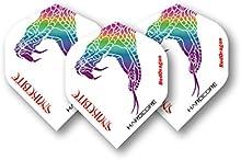 Hardcore Peter Wright Snakebite blanco extra gruesa vuelos dardos-4juegos por paquete (12en total) y tarjeta de comprobación Red Dragon