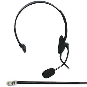 Cablefinder Casque avec microphone pour téléphone RJ9/RJ10/RJ22 Pour centre d'appel
