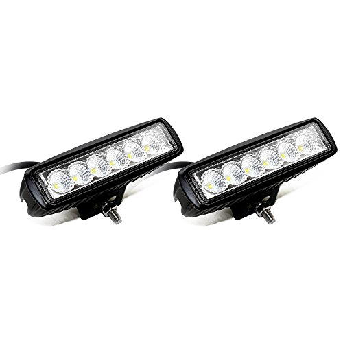 OUMIZHI 18 W 6 LED Workshop Light LED Work Spot Light SUV, UTV, ATV LED Light Auxiliary Headlights 10-30 V [Energy Class A]