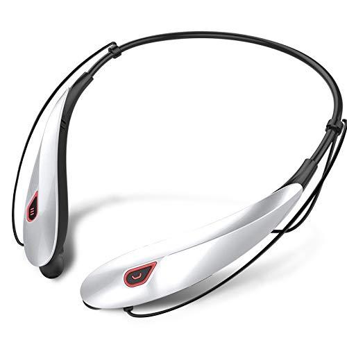 CAOQAO Casque Bluetooth Sport ÉCouteurs,Oreillette Neckband sans Fil,éCouteurs StéRéO Anti-Sueur Sport avec Micro Casque StéRéO Microphone pour Sports Course à Pied Gym,B