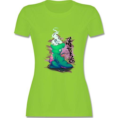 Statement Shirts - Stinkstiefel - tailliertes Premium T-Shirt mit Rundhalsausschnitt für Damen Hellgrün
