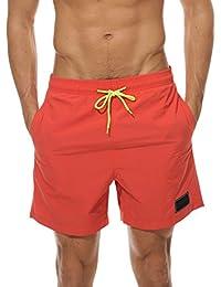 37201dd8b Men's Beach Shorts Quick Dry Waterproof Sports Shorts Bathing Suit Swim  Trunks