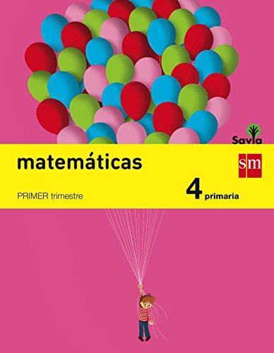 Matemáticas 4 primaria savia - pack de 3 libros