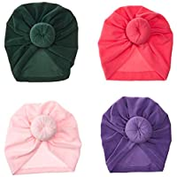 YASSUN Baby Cotton Hat Headband 4 Piece Hairpin