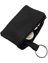 Cuero Estuches de llave 1 compartimento Made in UE en negro
