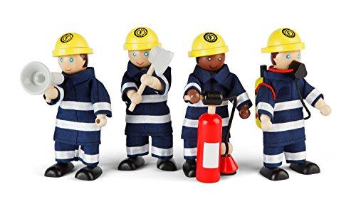 Preisvergleich Produktbild Tidlo T-0117 - Feuerwehrmänner, Spielfigur