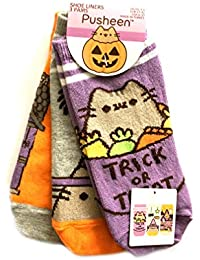 cfb2b19f7fe07 Pusheen Ladies Girls pack of 3 pair Shoe Liners Socks One size (UK 4-