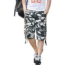 Xinwcang Hombre Cortos Pantalones Cargo de Camuflaje Casual Suelto Bermudas  Shorts Outdoor Deporte fL9sasHgy 2e381692789b