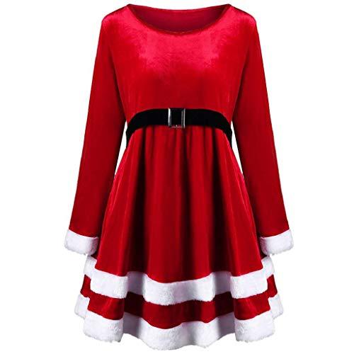 Abcone ❤ fashion vestito, abito da festival rosso con maniche lunghe in velluto a maniche lunghe di natale camicia swing dress eleganti vestiti abiti vestito elegante