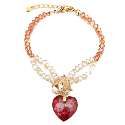 e! Stunning Delicate Ornate Vintage All Swarovski Hearts Crystals Elements, ''Amour'' LOVE Bracelet, with Pure Swarovski Cut Crystal Beads. Available in 3 Beautiful Colour (Pure Halloween-kostüme)