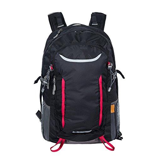 Sacchetto Di Alpinismo Esterno Di Xin.S35L Borsa Di Grande Capacità Impermeabile Usura Borsa A Tracolla Viaggio Sport Zaino A Piedi. 3 Colori Black