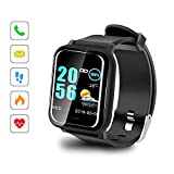 Sonkir Smart Watch mit 1.3' Colored Touchscreen, Pulsmesser, wasserdichtem IP67-Fitness-Tracker-Pedometer-Armband, kompatibel mit iPhone, Samsung, Huawei, Nexus, Android, iOS-Handys