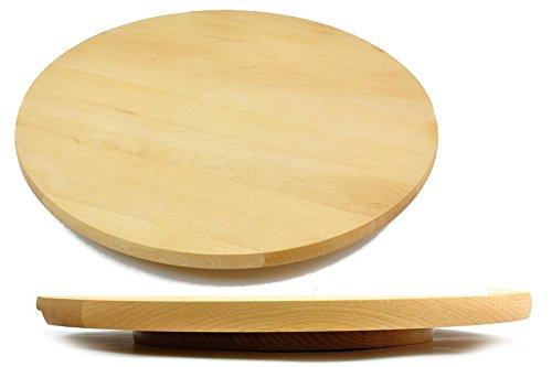 Assiette «Lazy Susan» rotatif pour le gâteau à pizza pivotant rond en bois rond 30 cm