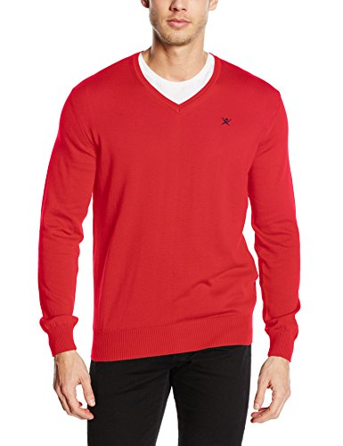 Hackett London Pima V Neck, Pull Homme 255RED