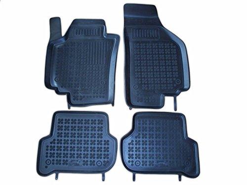 Rezaw - Plast 202005 Negro Alfombras de goma, Premium alfombrillas de goma , borde 3 centímetros