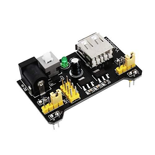 Hualieli Breadboard Power Supply Module 830 Holes Breadboard Opzionale 65x Jumper Wires Kit per Scheda Arduino