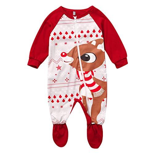 KINGWani ❤ Baby Mädchen Junge Weihnachten Bodys Sleepwear NeugeboreneN Säugling Xmas Hirsch Strampler Jumpsuit Outfits