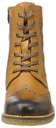 Be Natural 25200, Stivali Combat Donna Marrone (Cognac)