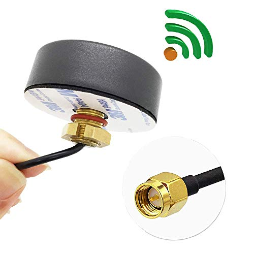 Fiotasy Ultra Low-Profile GSM 2G 3G 4G Lte Antenna SMA Male on 3m RG174  cable Omni-Directional Waterproof Outdoor Screw-Mount Antenna