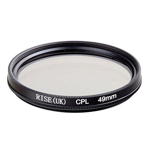 CPL 49mm Polarisationsfilter CPL für Objektive von 49mm Durchmesser für alle Marken Canon Nikon Sony Pentax Fuji Olympus Leica Panasonic Sigma Tamron Minolta Zeiss Tokina Kodak Rodenstock SLR DSLR–adaptout Französische Marke