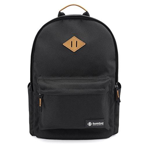Tomtoc 15.6 pouces sac à dos léger pour ordinateur portable, noir