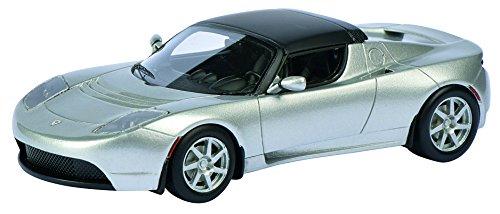 Schuco 450897600 - Tesla Roadster, 1:43, Silber