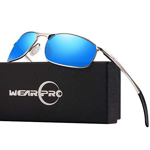 wearpro Sonnenbrille Herren männer Polarisierte Al-Mg Metall Rahme Ultra Leicht WP1015