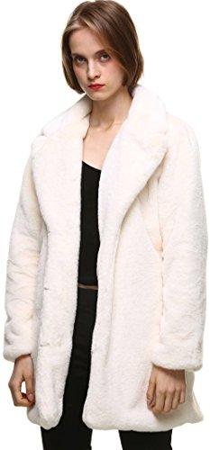Abrigo blanco de pelo