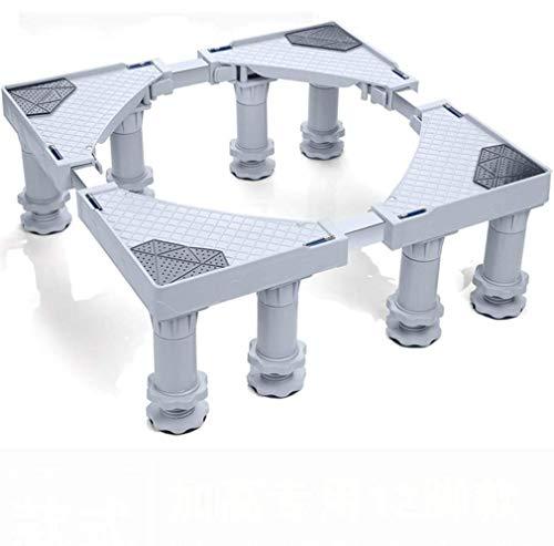 WSJTT Multifunktionale, bewegliche, verstellbare Basis mit 8 einstellbaren, festen Fußgrößen. Universal-Rollwagen for Trockner, Waschmaschine und Kühlschrank